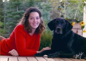 Sara Bryanton with her dog Brandy