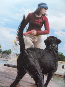 Sara Bryanton with her dog Sailor